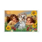 Angels with Yorkie 22x14 Wall Peel