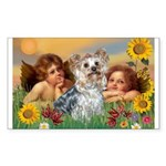 Angels with Yorkie Sticker (Rectangle)