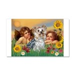 Angels with Yorkie Car Magnet 20 x 12
