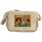Angels with Yorkie Messenger Bag