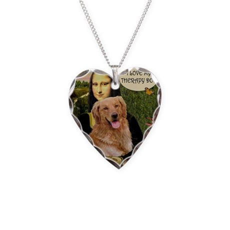 Mona/Golden Therapy Necklace Heart Charm