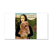 Mona/Golden Therapy Car Magnet 20 x 12
