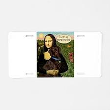 Mona's Chocolate Lab (TH) Aluminum License Plate