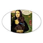 Mona's Chocolate Lab (TH) Sticker (Oval 10 pk)