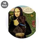 "Mona's Chocolate Lab (TH) 3.5"" Button (10 pac"