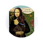 "Mona's Chocolate Lab (TH) 3.5"" Button"