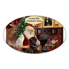 Santa's Chocolate Lab (TH) Decal
