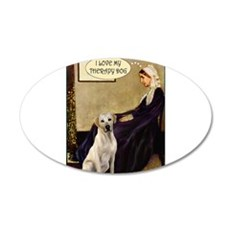 Mom's Yellow Lab (TH) 22x14 Oval Wall Peel
