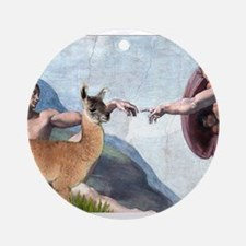 Creation of the Llama Ornament (Round)