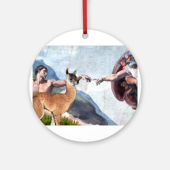 Creation of the Llama Ornament (Round)