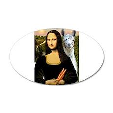 Mona Lisa's Llama 22x14 Oval Wall Peel