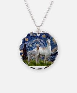 Starry Night Llama Duo Necklace