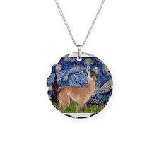Starry Night Llama Necklace