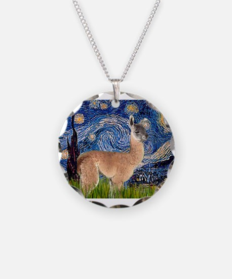 Starry Night Llama Necklace