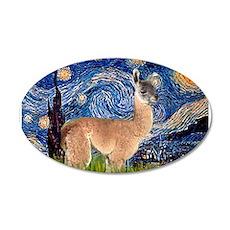 Starry Night Llama 22x14 Oval Wall Peel