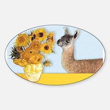 Sunflowers & Llama Decal