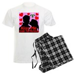 Kiss Me Under The Mistletoe Men's Light Pajamas