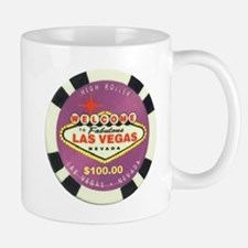 Las Vegas Purple Poker Chip Logo Mug