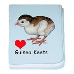 Love Guinea Keets baby blanket