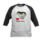 Love Guinea Keets Kids Baseball Jersey