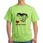 Love Guinea Keets Green T-Shirt