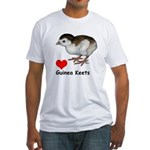 Love Guinea Keets Fitted T-Shirt