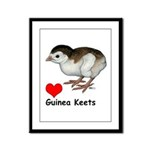 Love Guinea Keets Framed Panel Print
