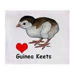 Love Guinea Keets Throw Blanket