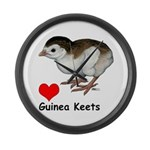 Love Guinea Keets Large Wall Clock