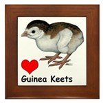 Love Guinea Keets Framed Tile