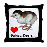 Love Guinea Keets Throw Pillow