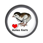 Love Guinea Keets Wall Clock
