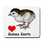 Love Guinea Keets Mousepad