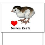 Love Guinea Keets Yard Sign