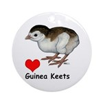 Love Guinea Keets Ornament (Round)