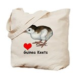 Love Guinea Keets Tote Bag