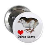 "Love Guinea Keets 2.25"" Button (10 pack)"