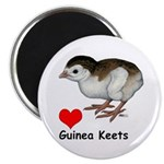 Love Guinea Keets Magnet