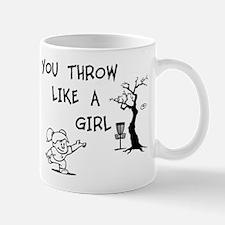 You throw like a girl. Mug