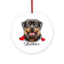 Love Rotties! Ornament (Round)