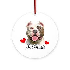 Love Pit Bulls! Ornament (Round)