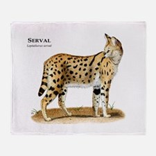 Serval Throw Blanket