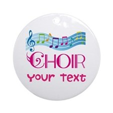 Cute Customized Choir Ornament (Round)