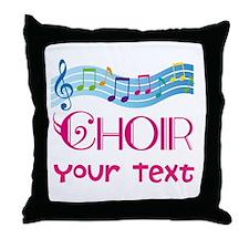 Cute Customized Choir Throw Pillow