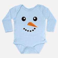 FROSTY SNOWMAN FACE Long Sleeve Infant Bodysuit