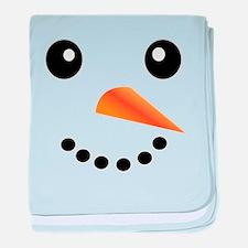 FROSTY SNOWMAN FACE baby blanket
