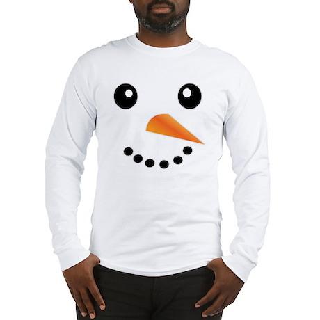 FROSTY SNOWMAN FACE Long Sleeve T-Shirt