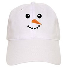 FROSTY SNOWMAN FACE Baseball Cap
