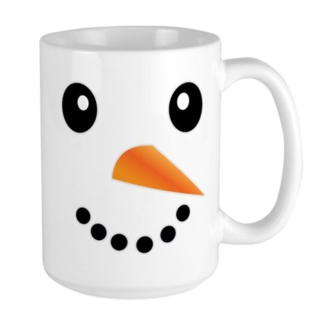 FROSTY SNOWMAN FACE Large Mug