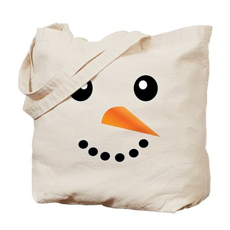FROSTY SNOWMAN FACE Tote Bag